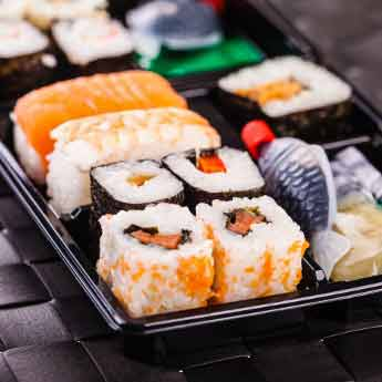 SUSHI CONTAINERS & TRAYS