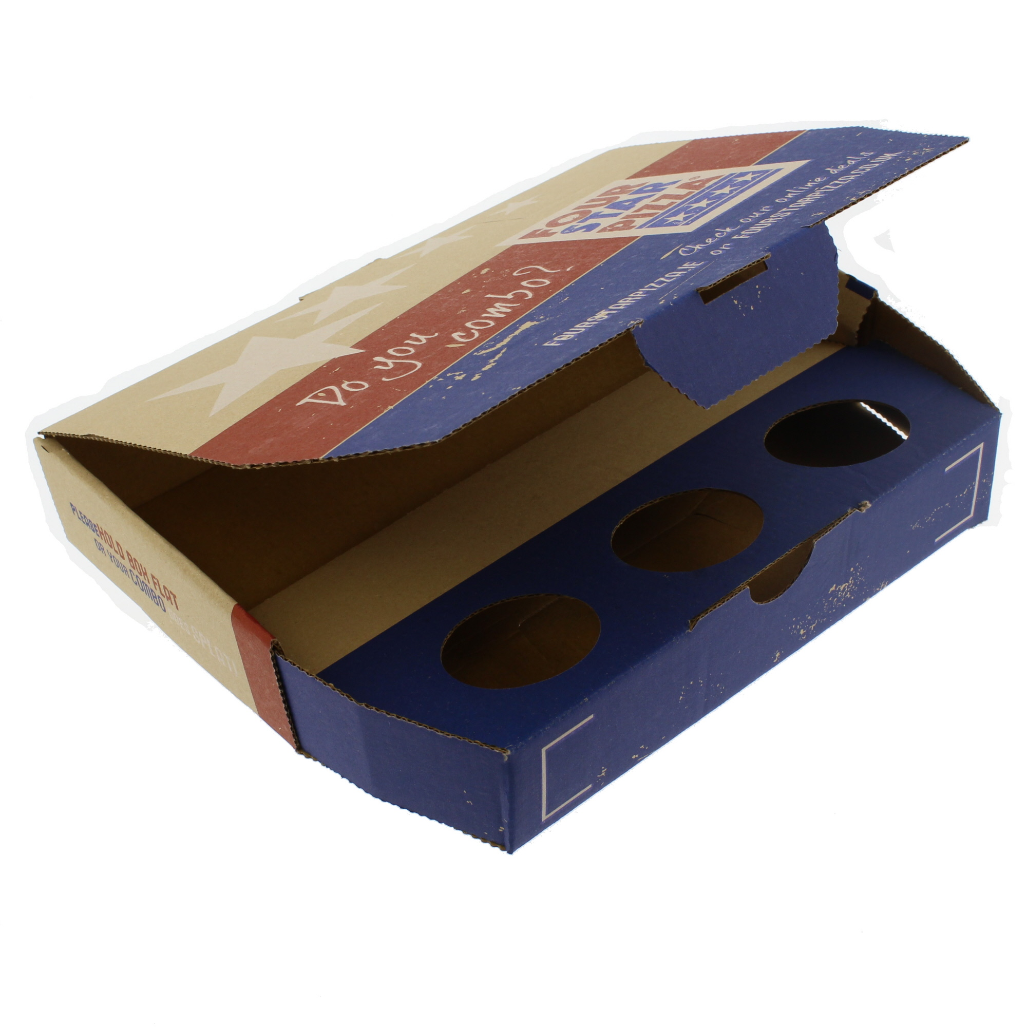 Four Star Pizza Combo Boxes Inside