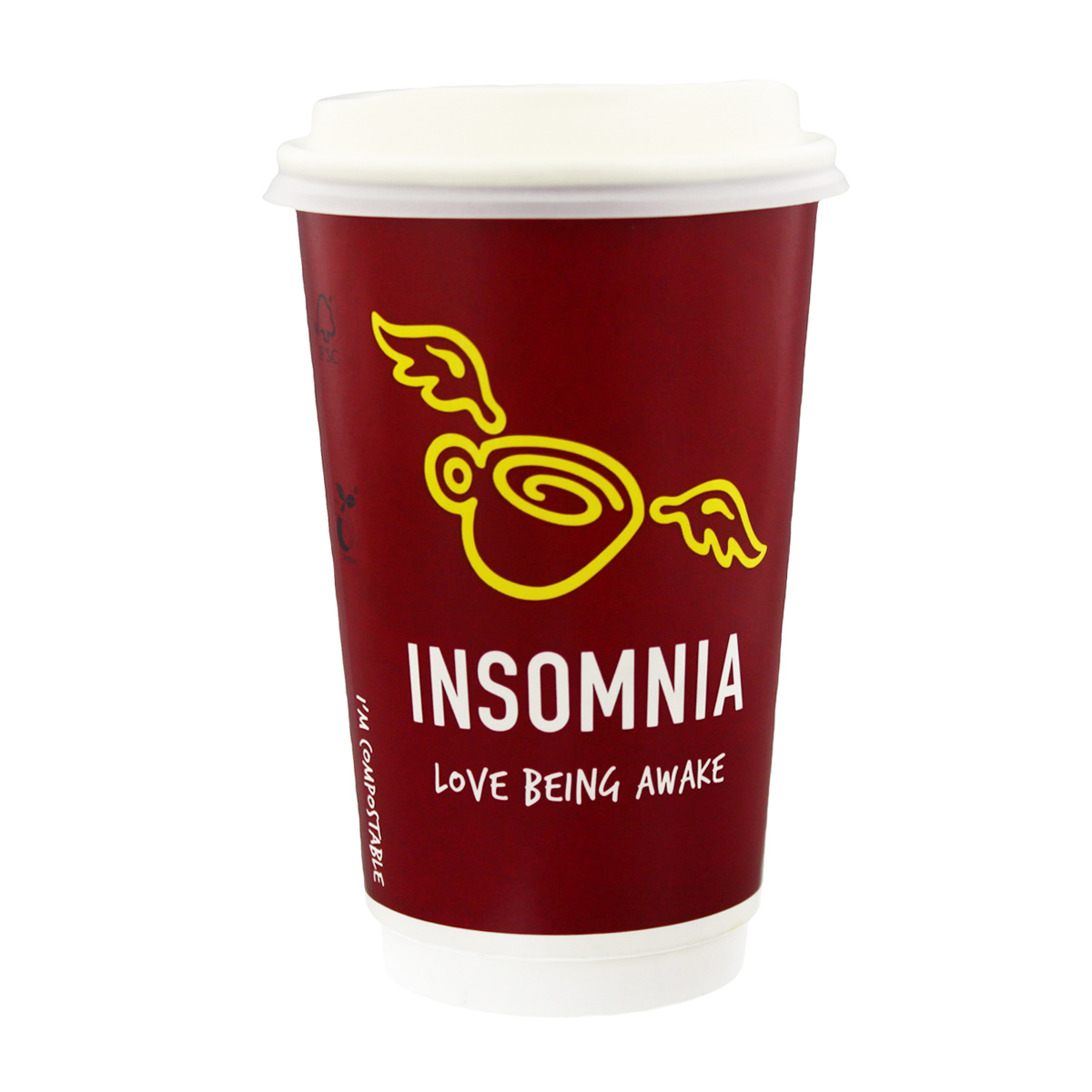 Insomnia Compostable Coffee Cup