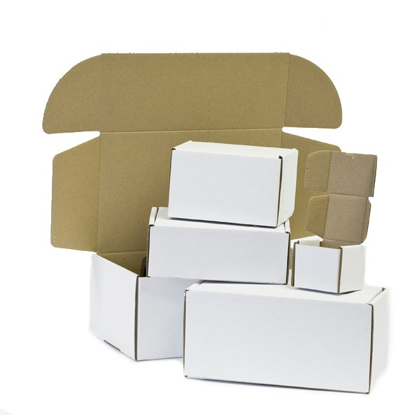 White Die Cut Postal Carton
