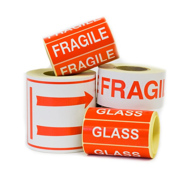 Glass With Care Labels 152 X 48Mm