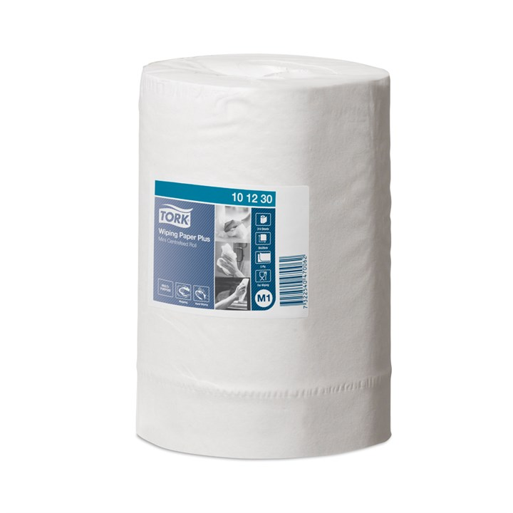 Tork Wiping Paper Plus Mini Centrefeed Roll M1 White 2Ply 20Cm X 75M