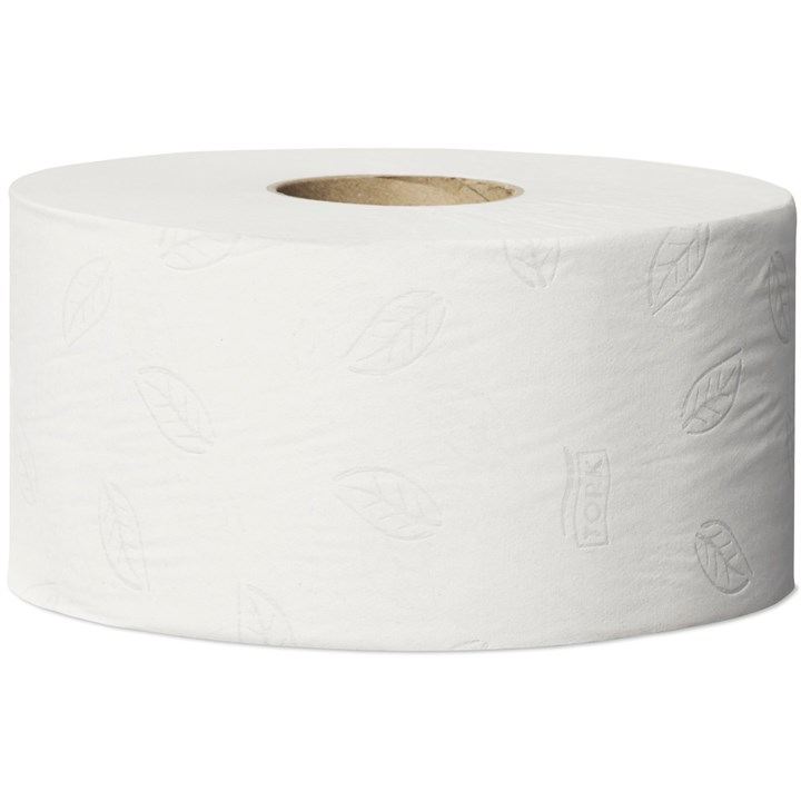 Tork Mini Jumbo Toilet Roll T2 Advanced White 9.4Cm X 170M