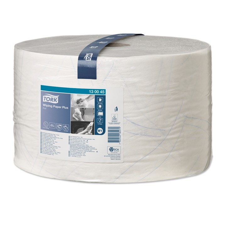 Tork Wiping Paper Plus Roll W1 2Ply 24Cm X 510M