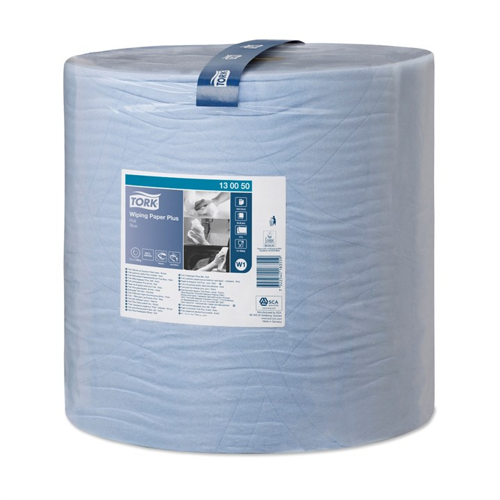 Tork Wiping Paper Plus Roll W1 Blue 2Ply 37Cm X 510M