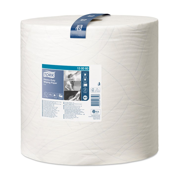Tork Heavy-Duty Wiping Paper Roll W1 2Ply 37Cm X 340M
