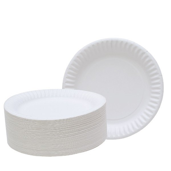 6 Inch White Paper Plate