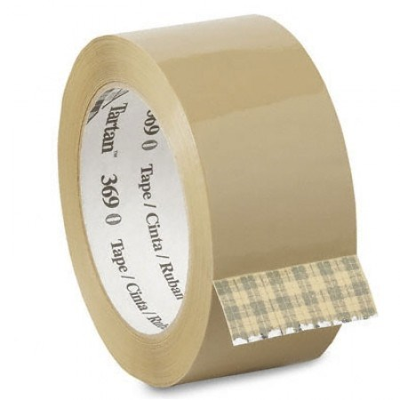 Brown 3M Scotch 369 Hotmelt Polypropylene Tape 48Mm X 66M Roll
