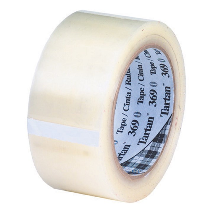 Clear 3M Scotch 369 Hotmelt Polypropylene Tape 48Mm X 66M Roll