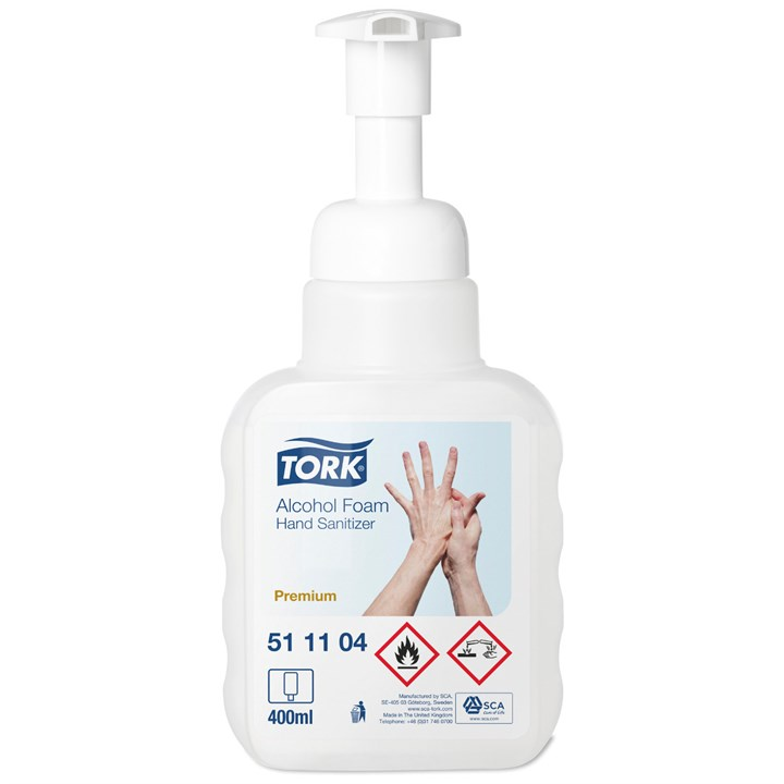 Tork Alcohol Foam Hand Sanitiser Premium Transparent