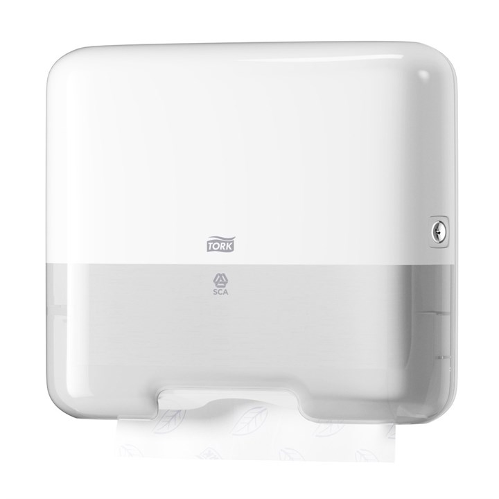 Tork Singlefold/C-Fold Mini Hand Towel Dispenser H3 Elevation Plastic