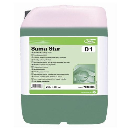 Suma Star D1 Concentrated Manual Dishwashing Liquid 20 Litre