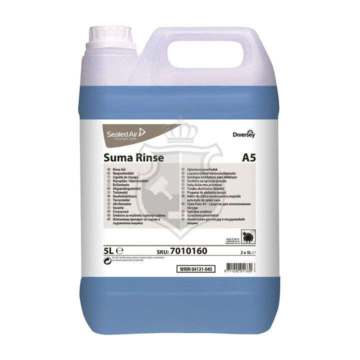 Suma Rinse Aid A5 Concentrated Rinse Aid For All Water 5 Litre