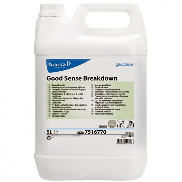 GOOD SENSE BREAKDOWN BIOLOGICAL BASED ODOUR NEUTRALISER 5 LITRE