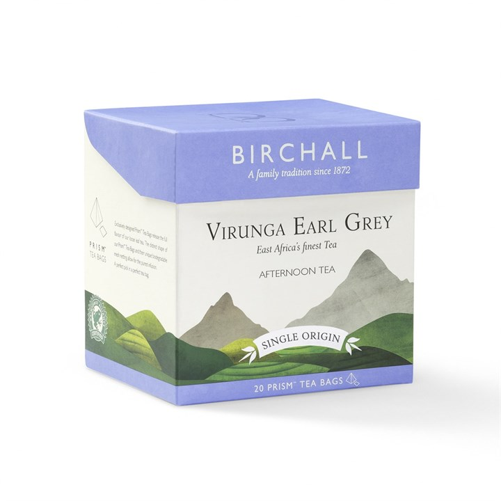 Virunga Earl Grey Birchall Enveloped Prism Teebeutel Rainforest Alliance