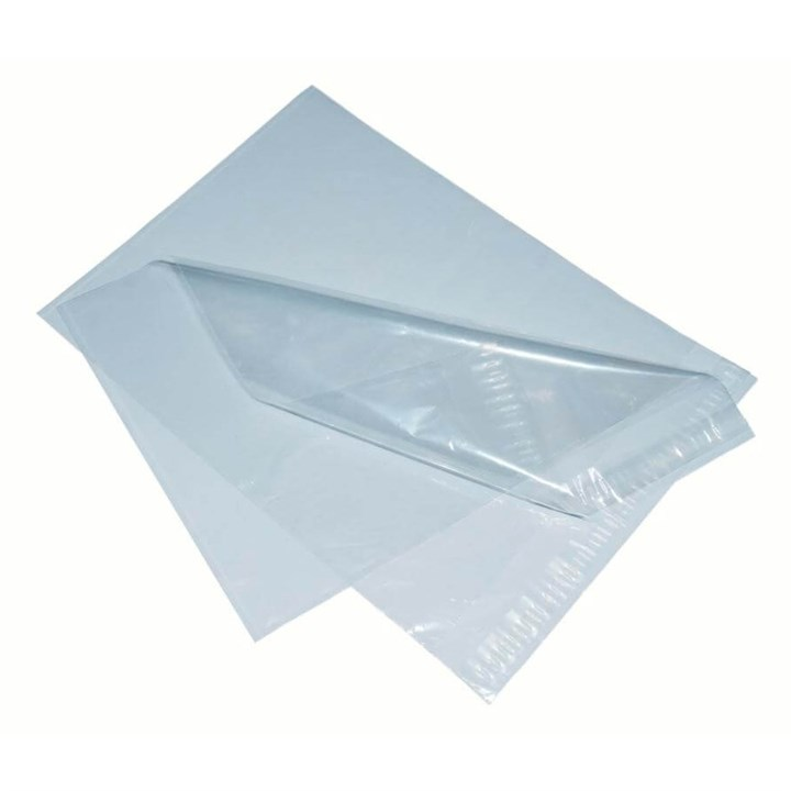 Clear Polythene Mailing Bag 230 X 310Mm With 38Mm Self Seal Lip