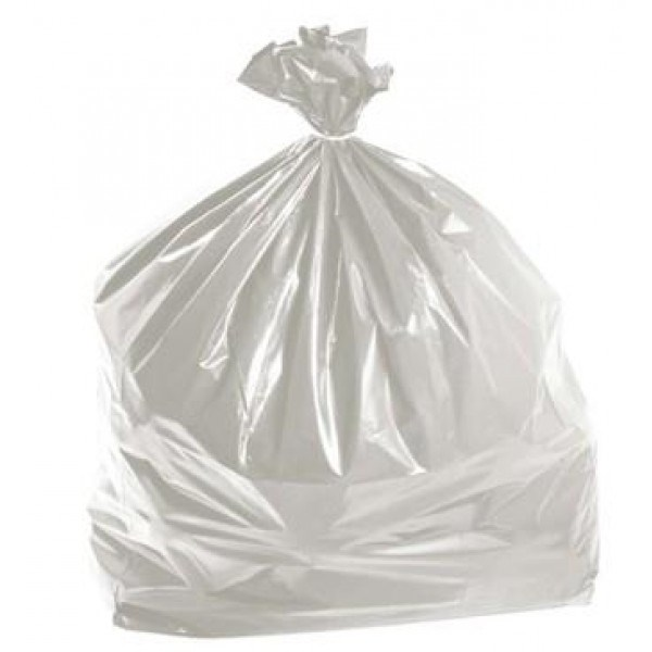 Clear Polythene Refuse Sacks 457 X 725 X 975Mm