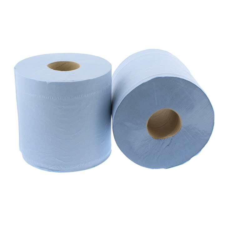 Blue Centrefeed Wiper Roll Pull 2Ply