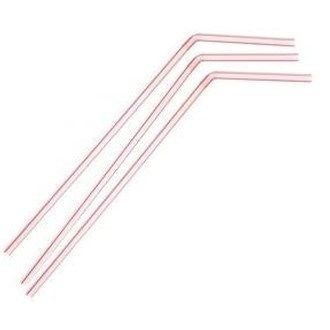 Flexi Straw Red & White 8Mm X 210Mm