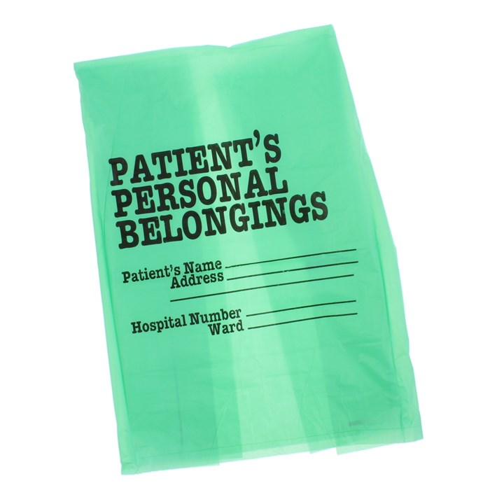 Patients Belonging Bag Green Hdpe 24 X 39 Inch