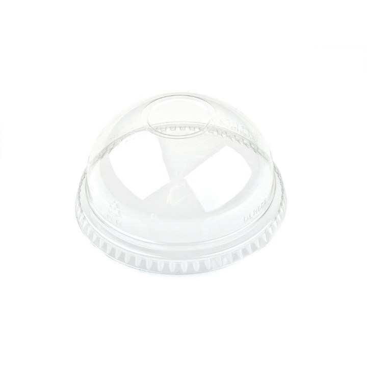 16Oz Clear Dome Lid With Hole
