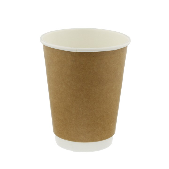 12Oz Plain Kraft Biodegradable Double Wall Cup