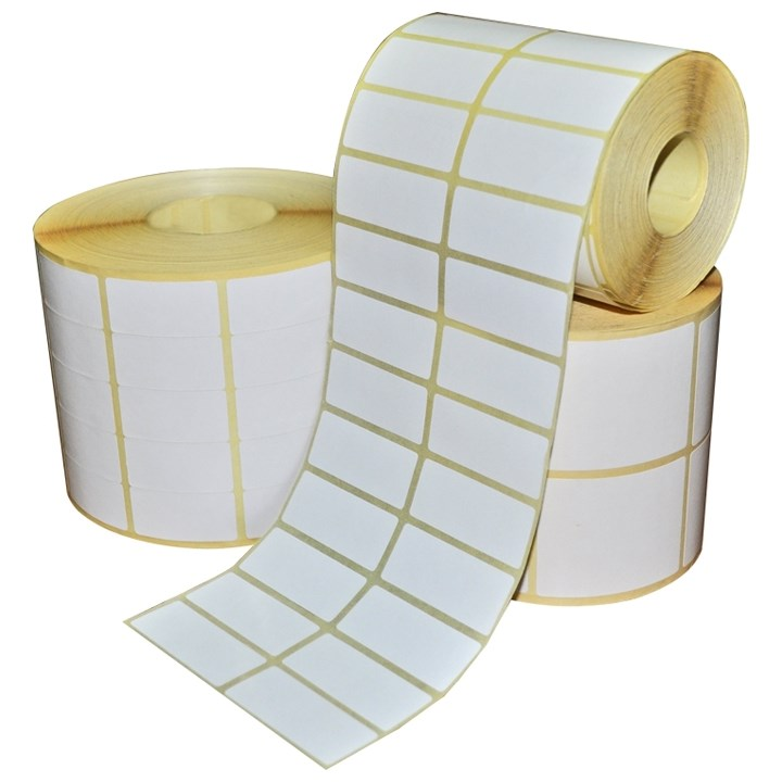 101.6 X 152.4Mm White Thermal Transfer Semi Gloss Plain Paper Permanent Labels