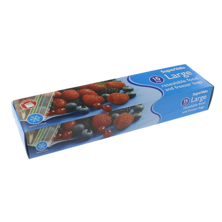 Supervalu Large Resealable Food Storage Bags