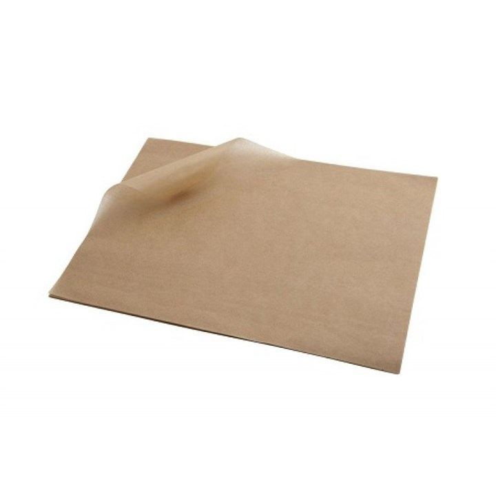 Plain Brown Greaseproof Sheets 18 X 28 Inch