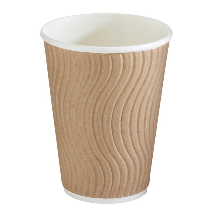 Brown Ripple Wall Cup