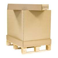 1070 X 870 X 550Mm 1/2 Container Tray,Cap And Sleeve With Heat Treated Pallet