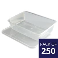 Plastic Takeaway Container C/W Lid
