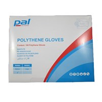 Clear Poly Gloves Medium