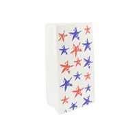 Sos Paper Carrier Bag 5 X 8.5 X 9.75 Inch Star Design