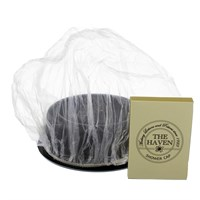 New Silver Shower Cap Boxed