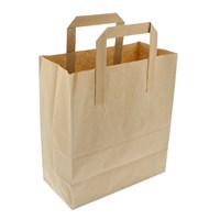 Brown Paper Carrier Bag Outer Handles