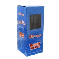 Olympia Black Bendy Straws