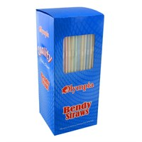 Olympia Bendy Stripe Straws
