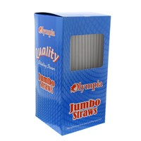 Olympia Jumbo Straight Clear Straws