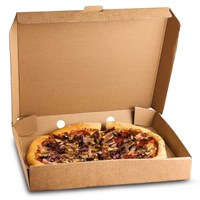 Plain Brown Kraft Pizza Box
