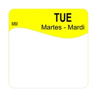 25mm Removable TUESDAY SQUARE LABEL (1100342)