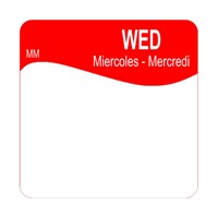 25mm Removable WEDNESDAY SQUARE LABEL (1100343)