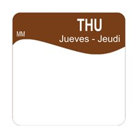 25mm Removable THURSDAY SQUARE LABEL (1100344)