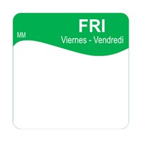 25mm Removable  FRIDAY SQUARE LABEL (1100345)