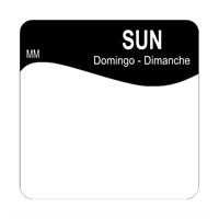 25mm Removable SUNDAY SQUARE LABEL (1100347)