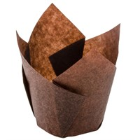 Brown Tulip Muffin Wrap 160 X 160 X 50Mm