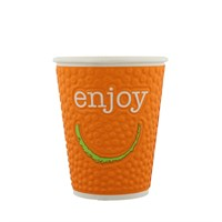Ciesz Orange Embossed Double Wall Cup