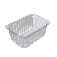 D13/120 Padded Clear Food Tray 239 X 167 X 120Mm