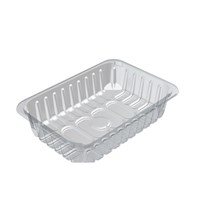 D13/65 Padded Clear Food Tray 239 X 167 X 65Mm