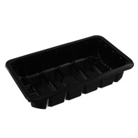 C3/45 A/B Black Food Tray 220 X 130 X 45Mm